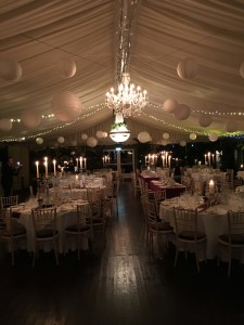Candle-lit winter wedding at Tinakilly House Hotel