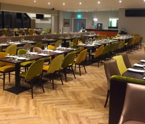Group dining is not a problem on the spacious floor layout